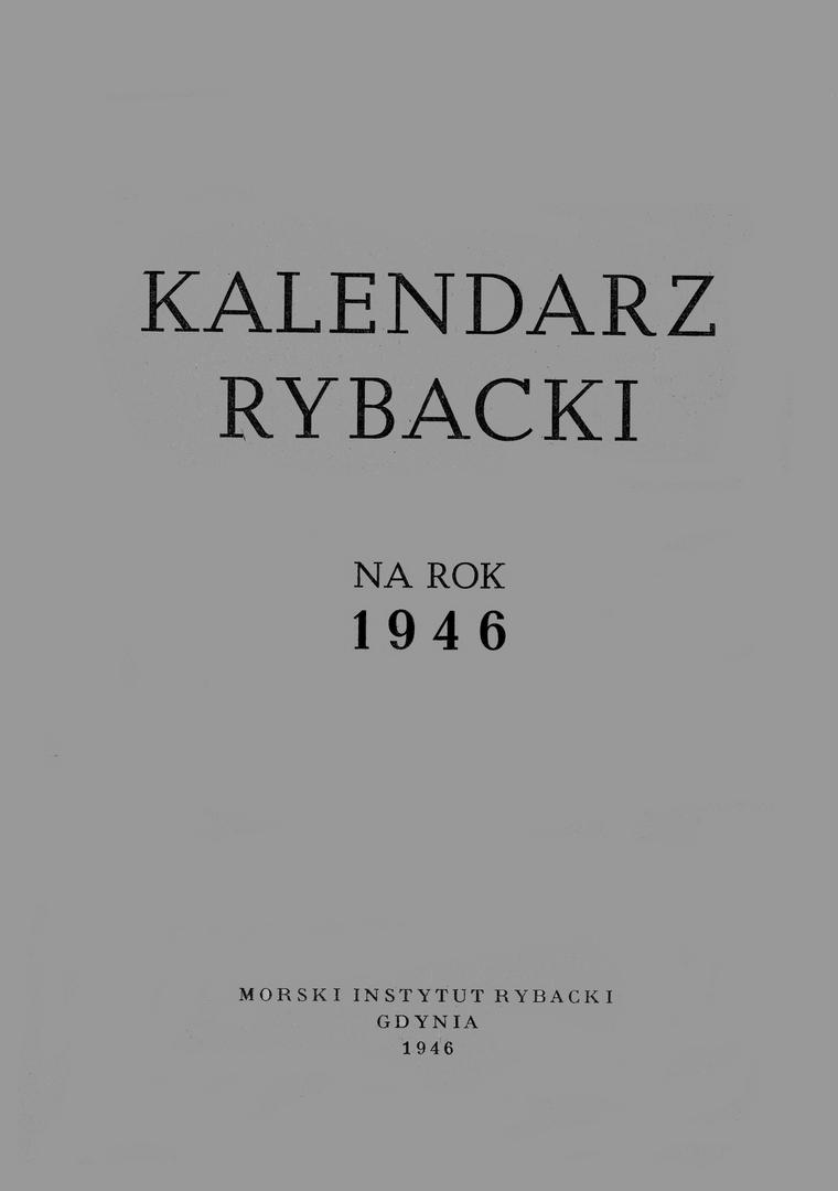 Kalendarz Rybacki