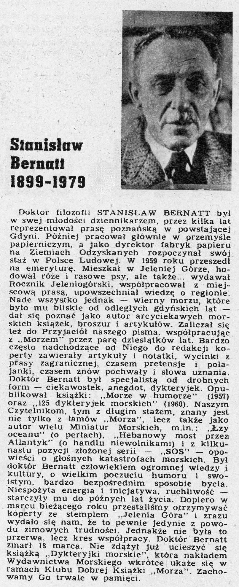 Bernatt Stanisław