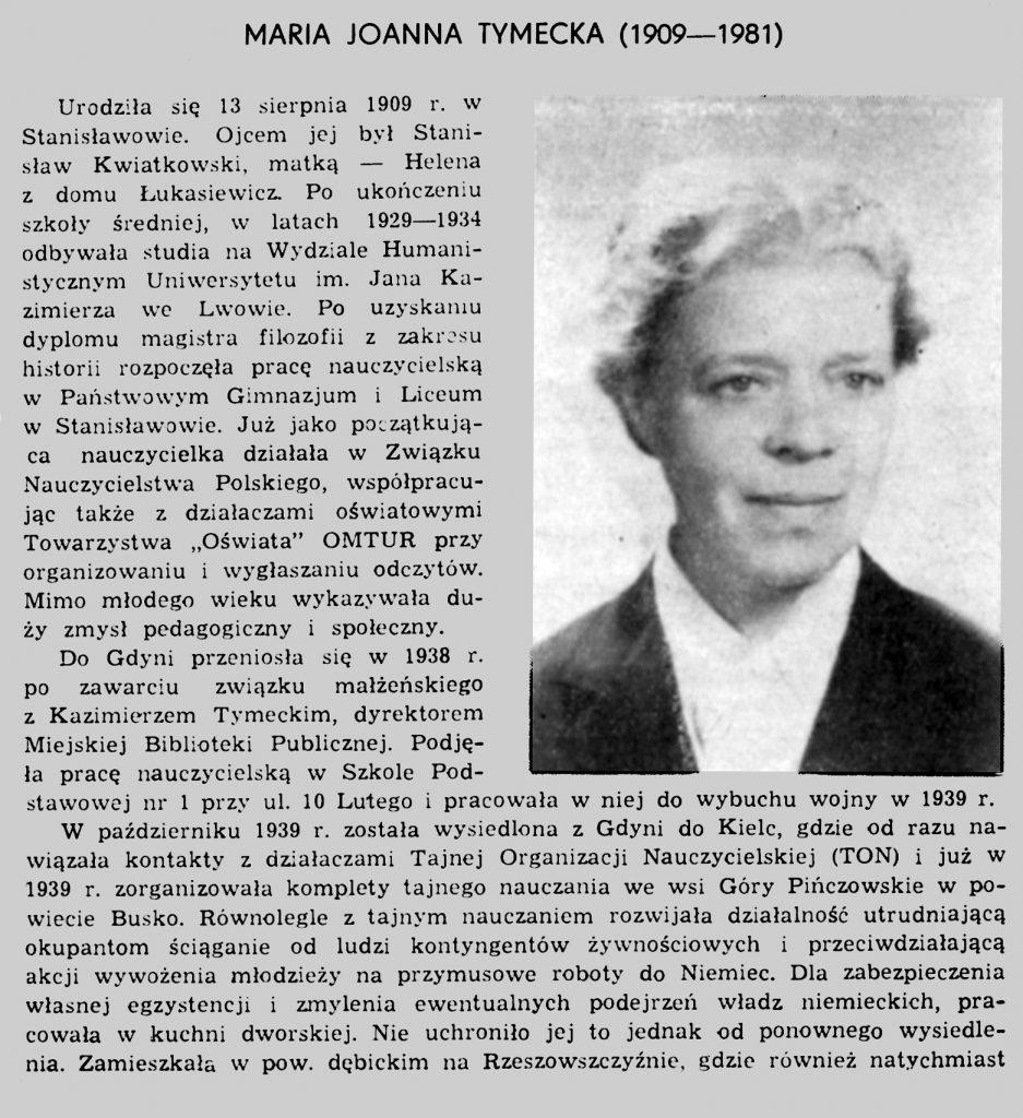 Maria Joanna Tymecka