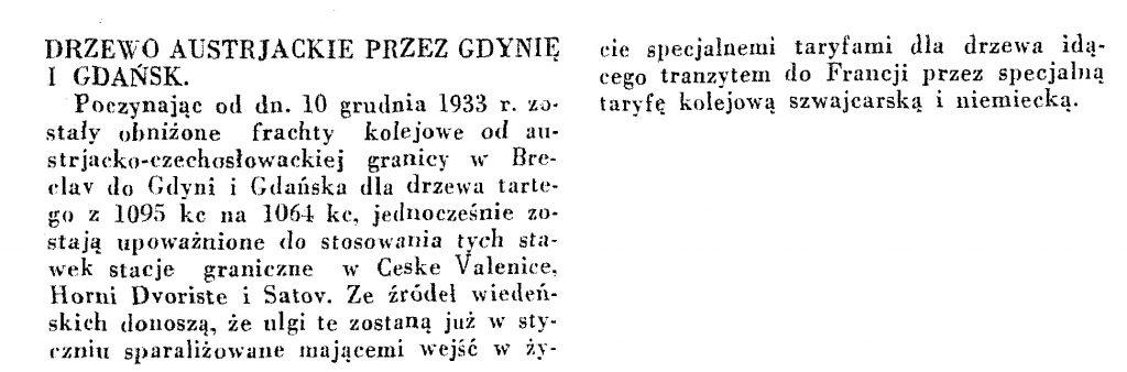 Austriackie drewno przez Gdynię wpg1933-12-32