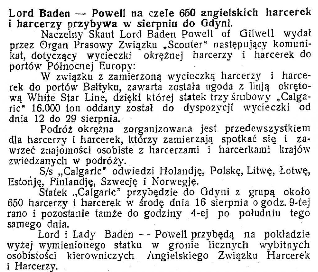 Baden Powell w Gdyni