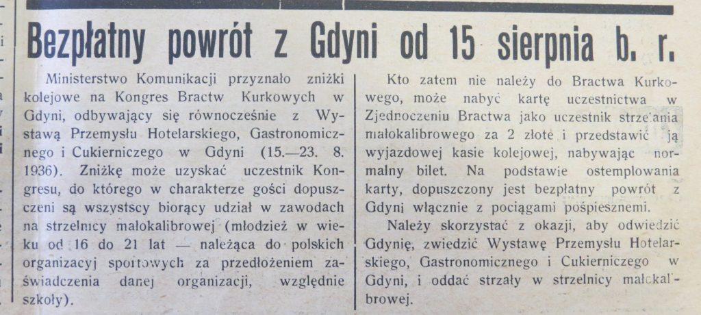 Bezpłatny powrót z Gdyni