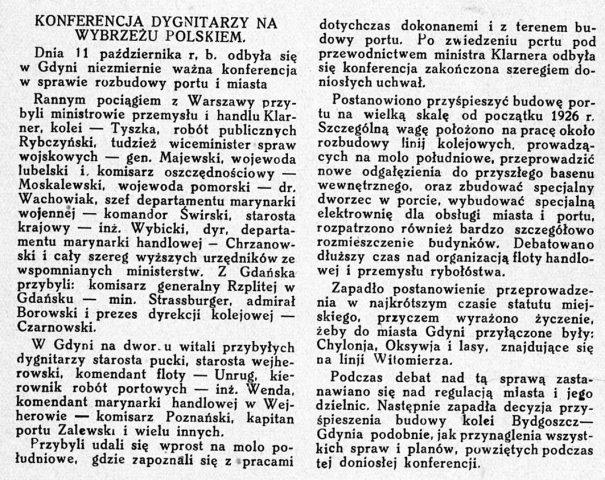 Konferencja dygnitarzy na wybrzeżu polskiem