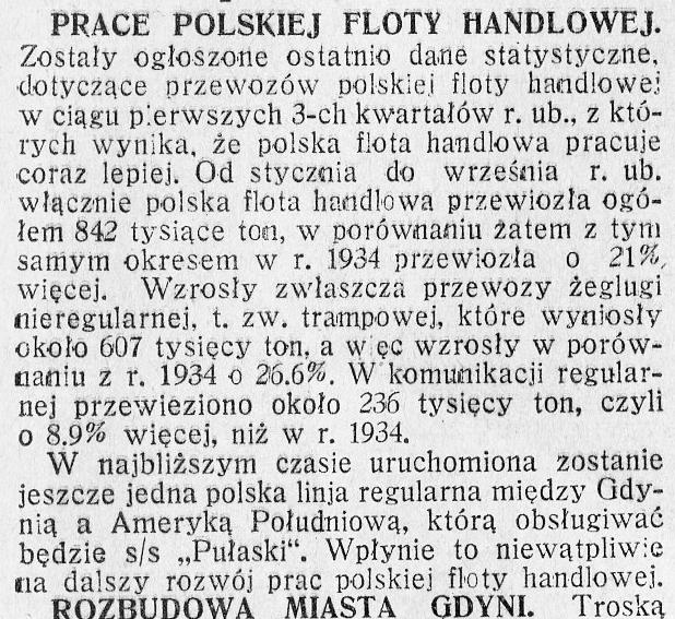 Prace polskie floty handlowej