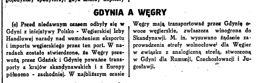 Gdynia a Węgry