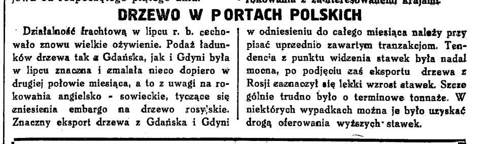 Drzewo w portach polskich