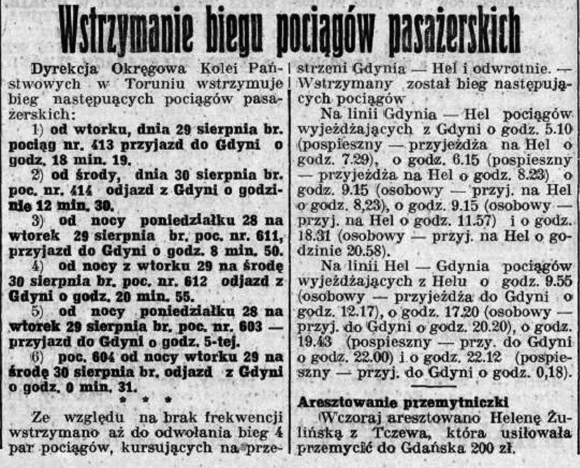 Komunikacja kolejowa wrzesień 1939 r.