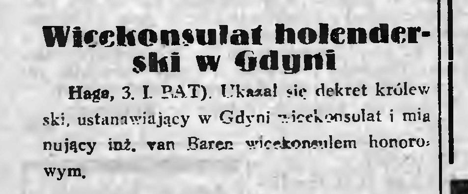 Wicekonsul holenderski w Gdyni