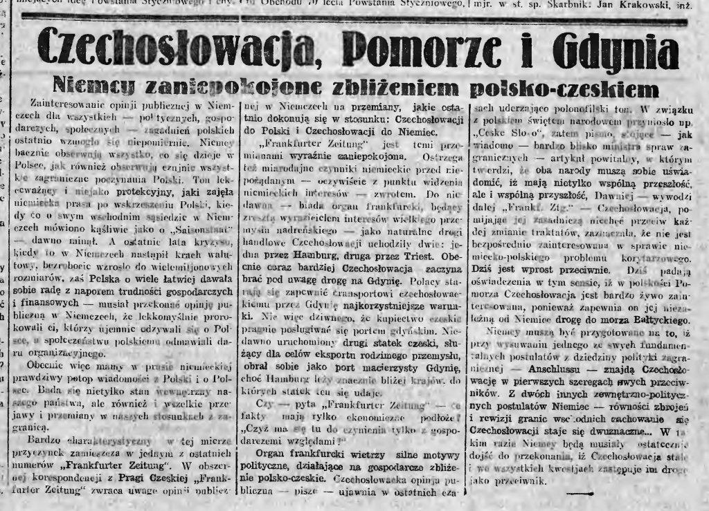 Czechosłowacja i Pomorze
