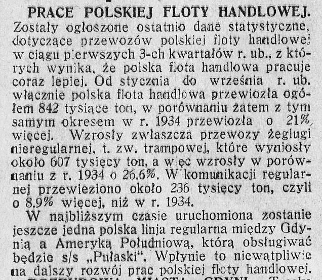 Prace polskiej floty handlowej