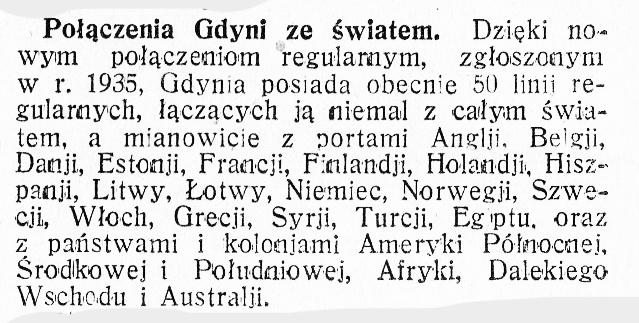 Połączenia Gdyni ze światem