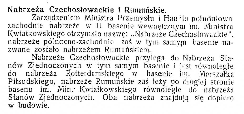 Port Nabrzeża Czechosłowackie i Rumuńskie