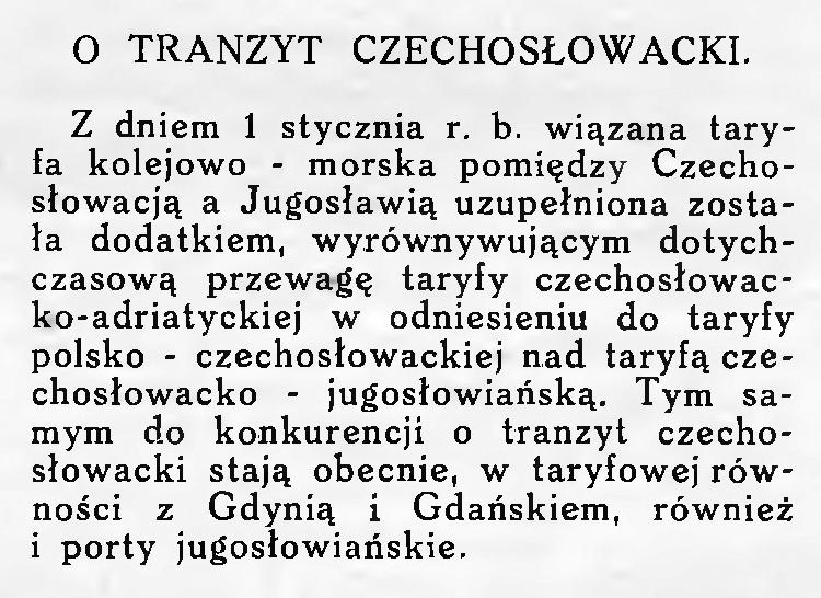 Tranzyt czechoslowacki
