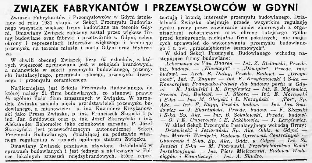 Związek Fabrykantów i Przemysłowców w Gdyni