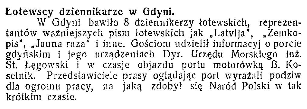 Łotewscy dziennikarze w Gdyni