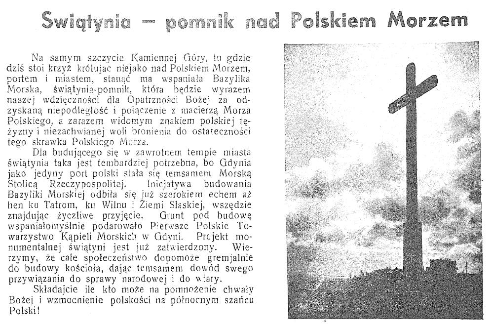 Świątynia - pomnik nad polskiem morzem