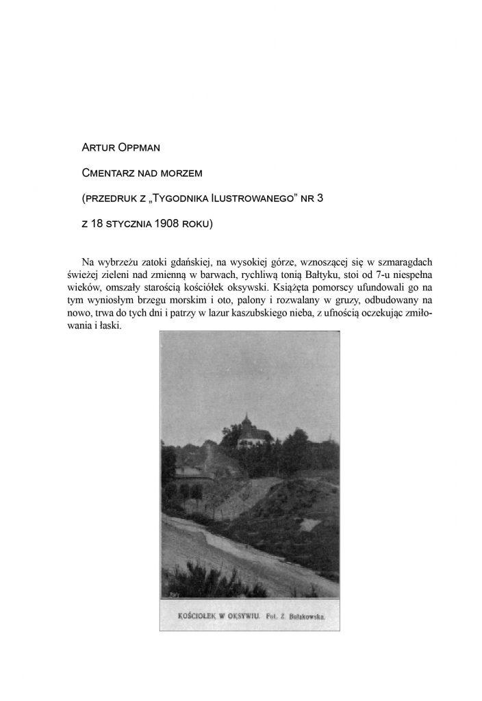 """Cmentarz nad morzem (przedruk z """"Tygodnika Ilustrowanego"""" nr 3 z 18 stycznia 1908 roku"""