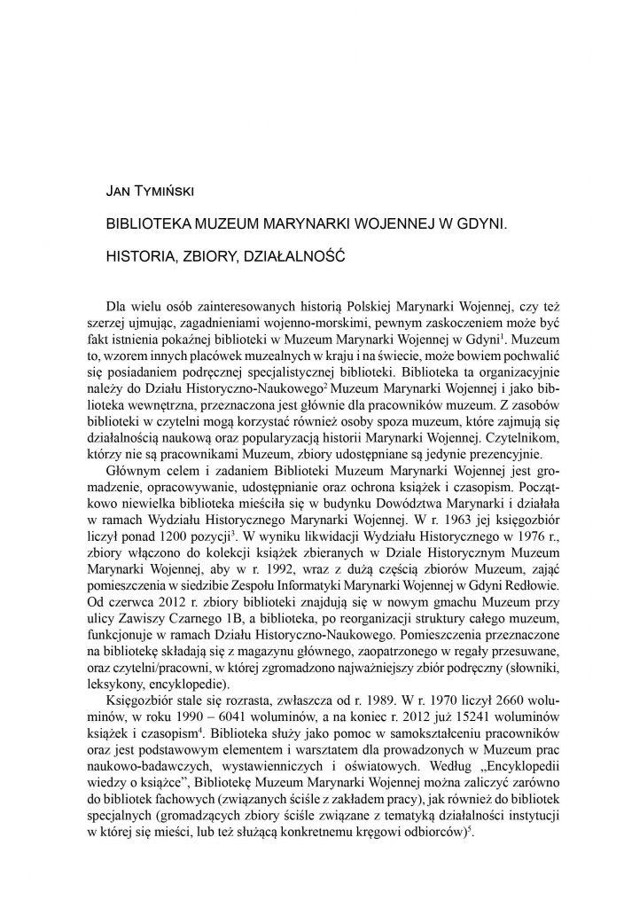 Biblioteka Muzeum Marynarki Wojennej w Gdyni. Historia, zbiory, działalność