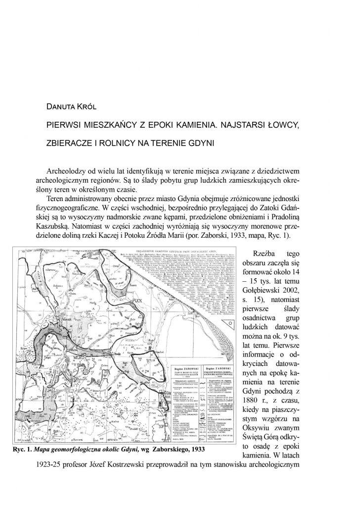 Pierwsi mieszkańcy z epoki kamienia. Najstarsi łowcy, zbieracze i rolnicy na terenie Gdyni