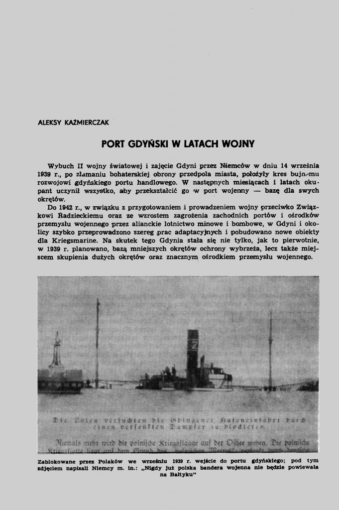 Port gdyński w latach wojny