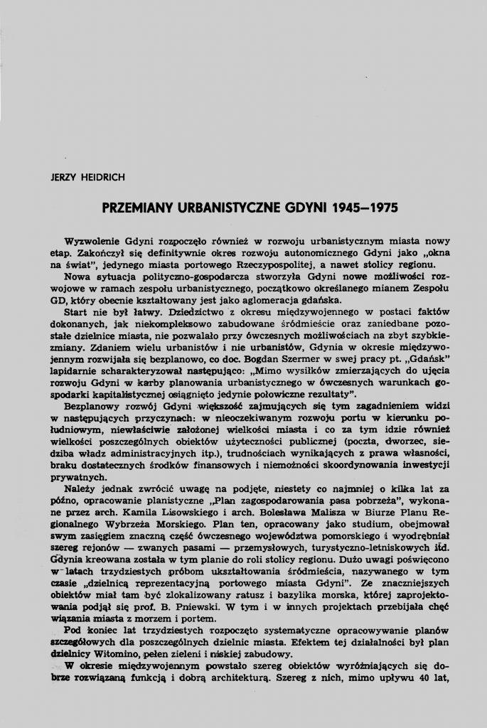 Przemiany urbanistyczne Gdyni 1945-1975