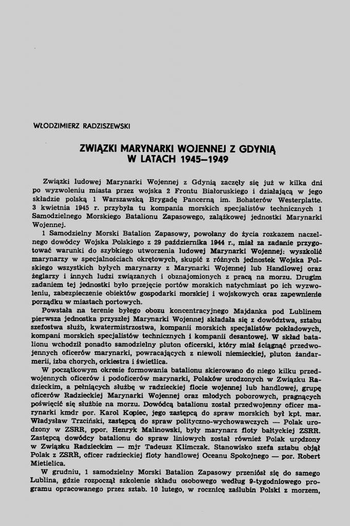 Związki Marynarki Wojennej z Gdynią