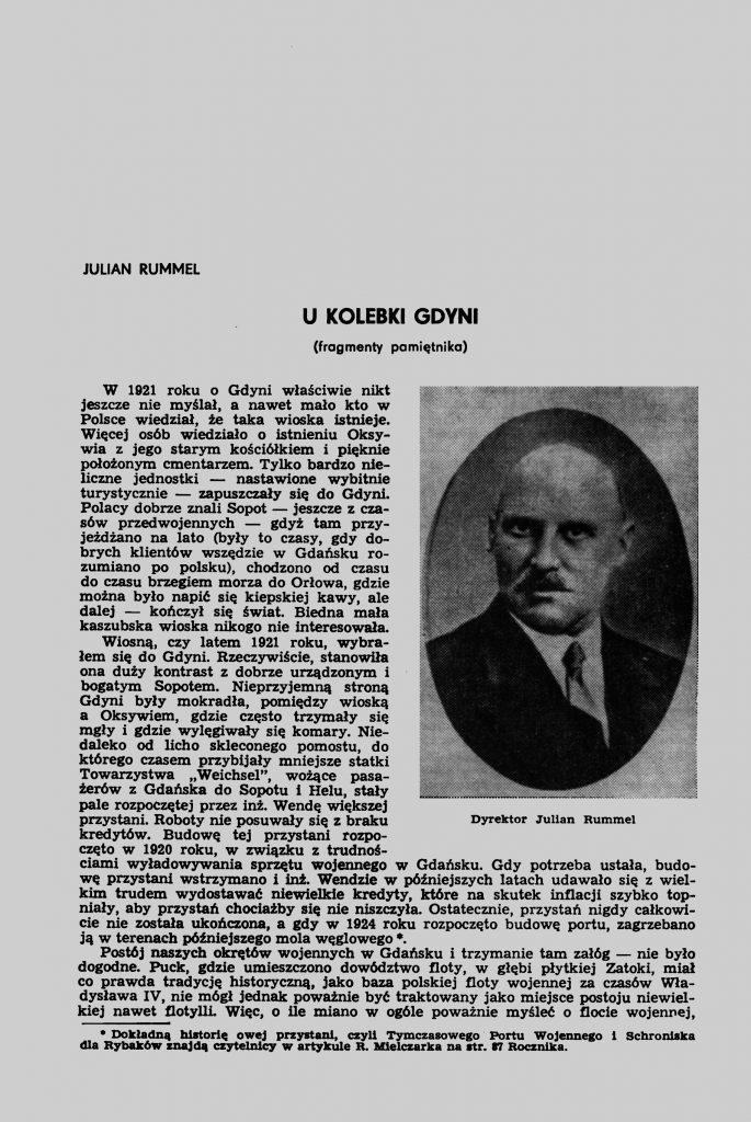 U kolebki Gdyni (fragmenty pamiętnika)