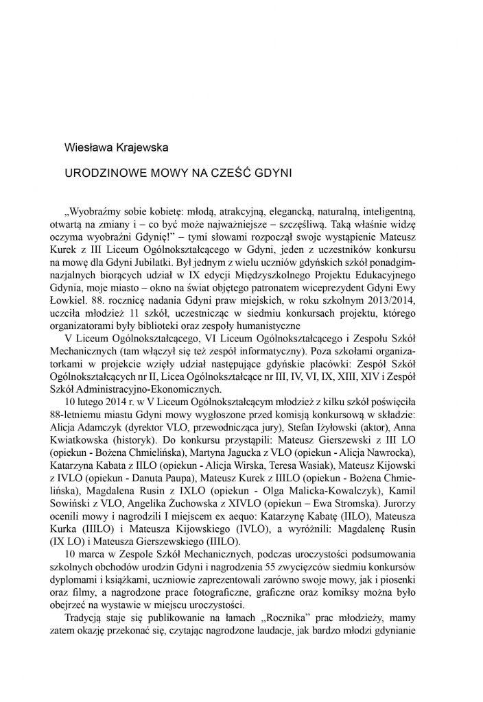 Urodzinowe mowy na cześć Gdyni