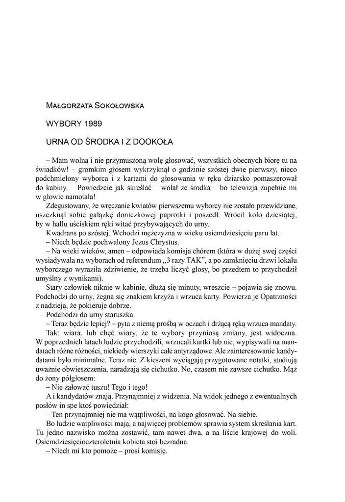 Wybory 1989 / Małgorzata Sokołowska