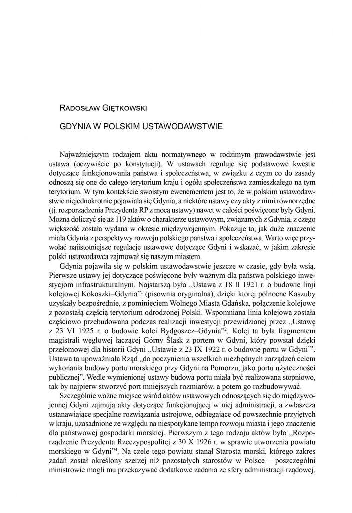 Gdynia w polskim ustawodawstwie