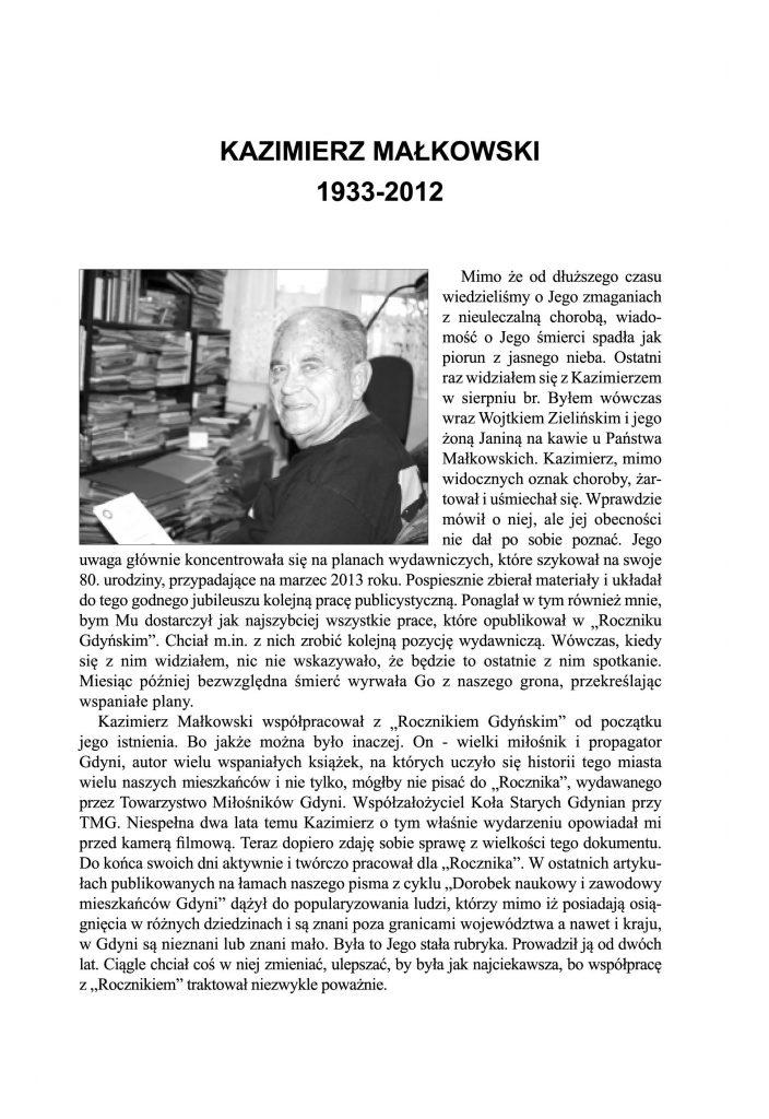 Kazimierz Małkowski 1933-2012