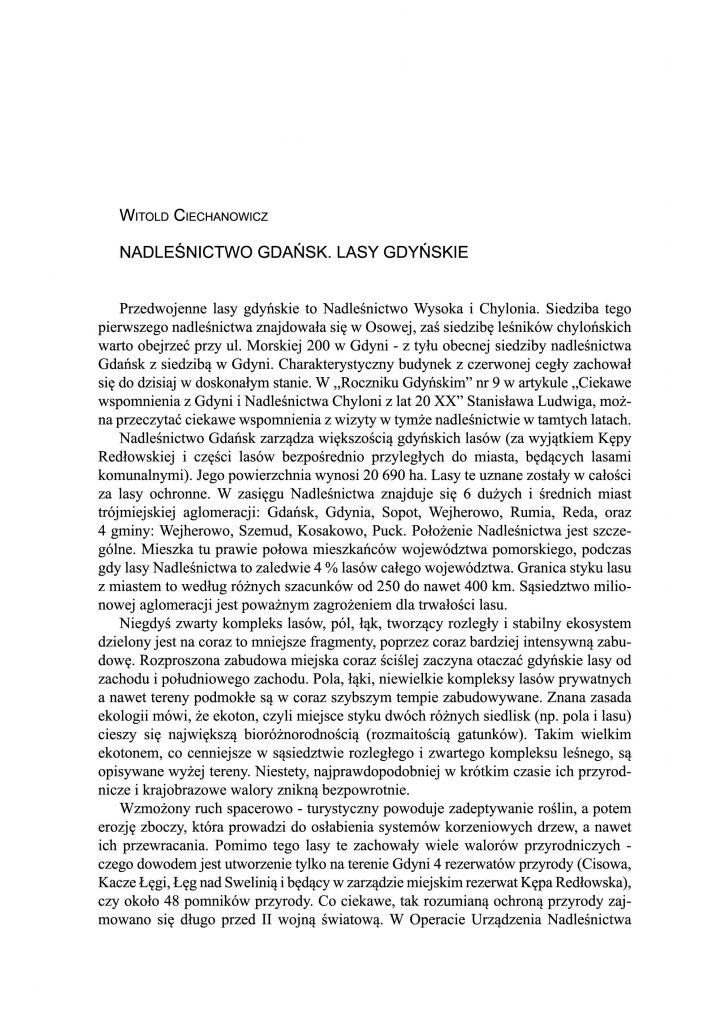 Nadleśnictwo Gdańsk. Lasy Gdyńskie