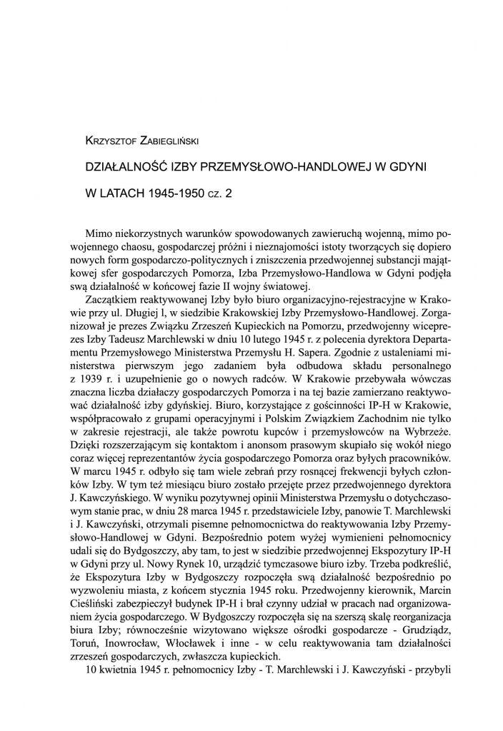 Działalność Izby Przemysłowo-Handlowej w Gdyni w latach 1945-1950 cz. 2Działalność Izby Przemysłowo-Handlowej w Gdyni w latach 1945-1950 cz. 2