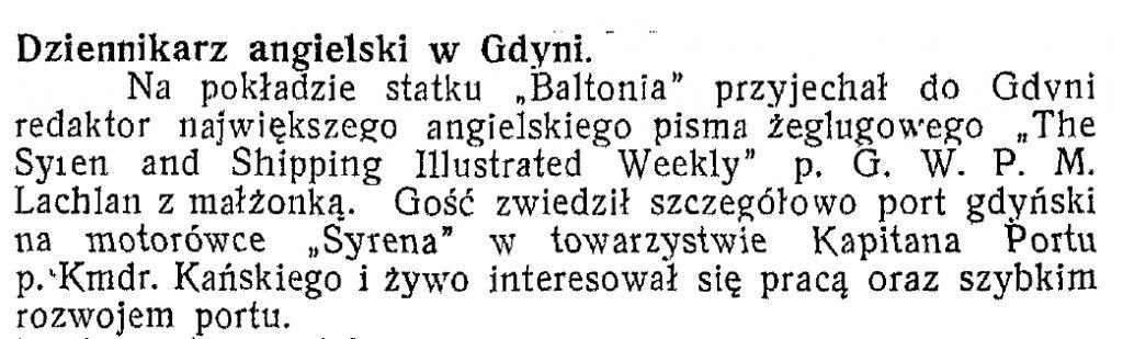 Dziennikarz angielski w Gdyni