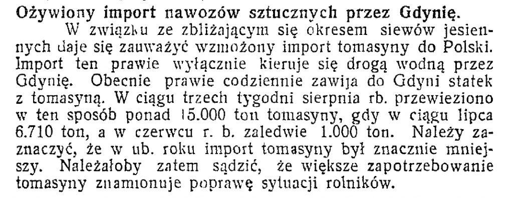 Ożywiony import nawozów sztucznych przez Gdynię