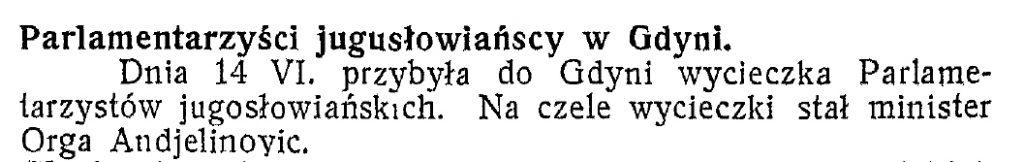 Parlamentarzyści jugosłowiańscy w Gdyni