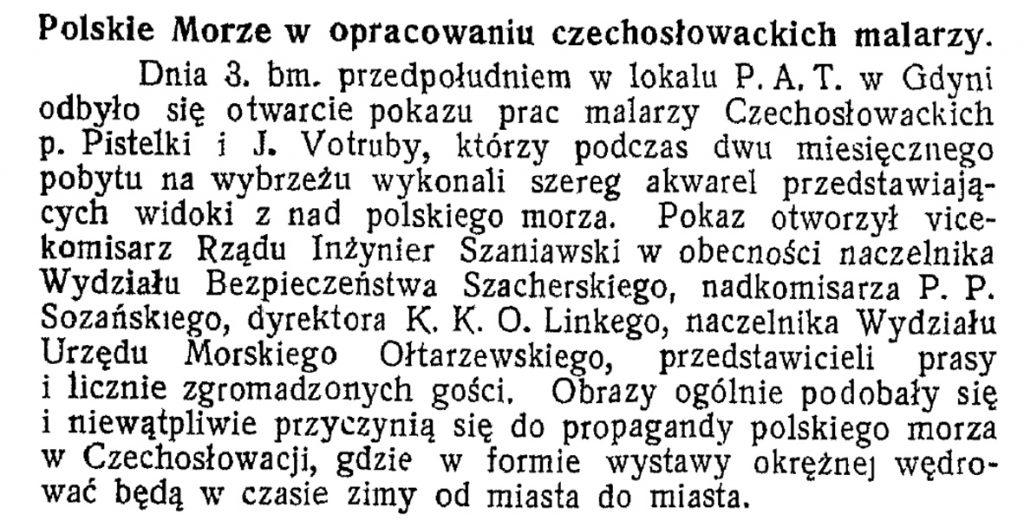 Polskie morze w opracowaniu czechosłowackich malarzy wpg1933-08-34