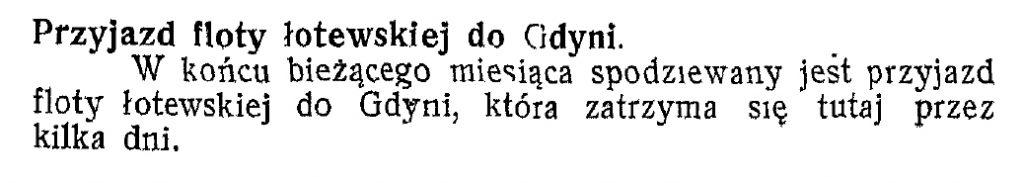 Przyjazd floty łotewskiej do Gdyni
