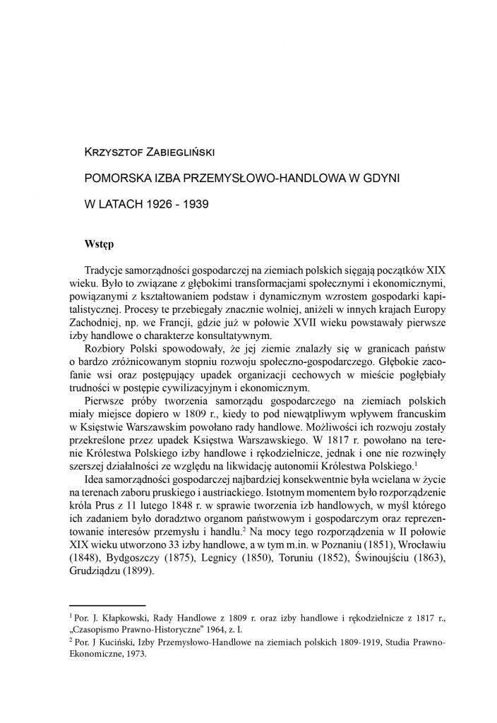 Pomorska Izba Przemysłowo-Handlowa w Gdyni w latach 1926-1939 [cz. 1]