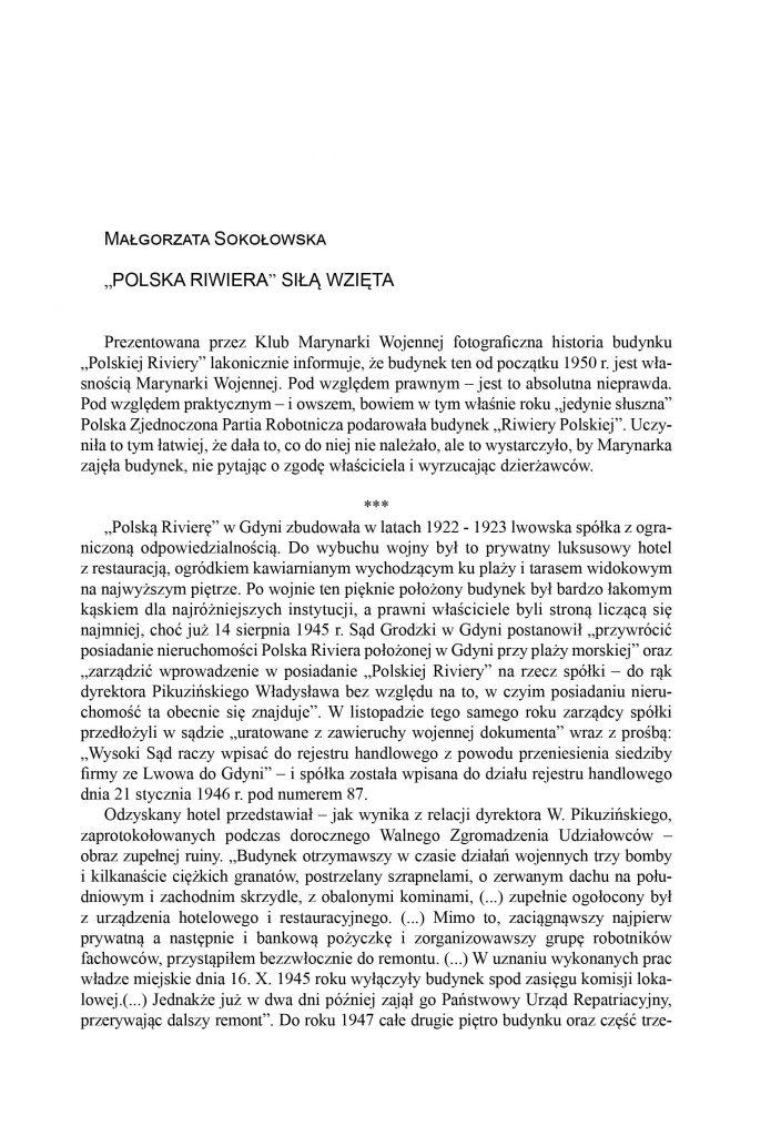 """""""Polska Riwiera"""" siłą wzięta"""