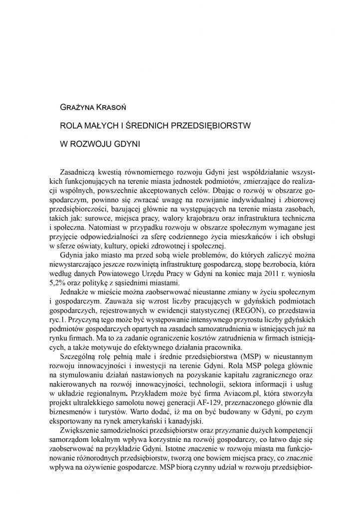 Rola małych i średnich przedsiębiorstw w rozwoju Gdyni