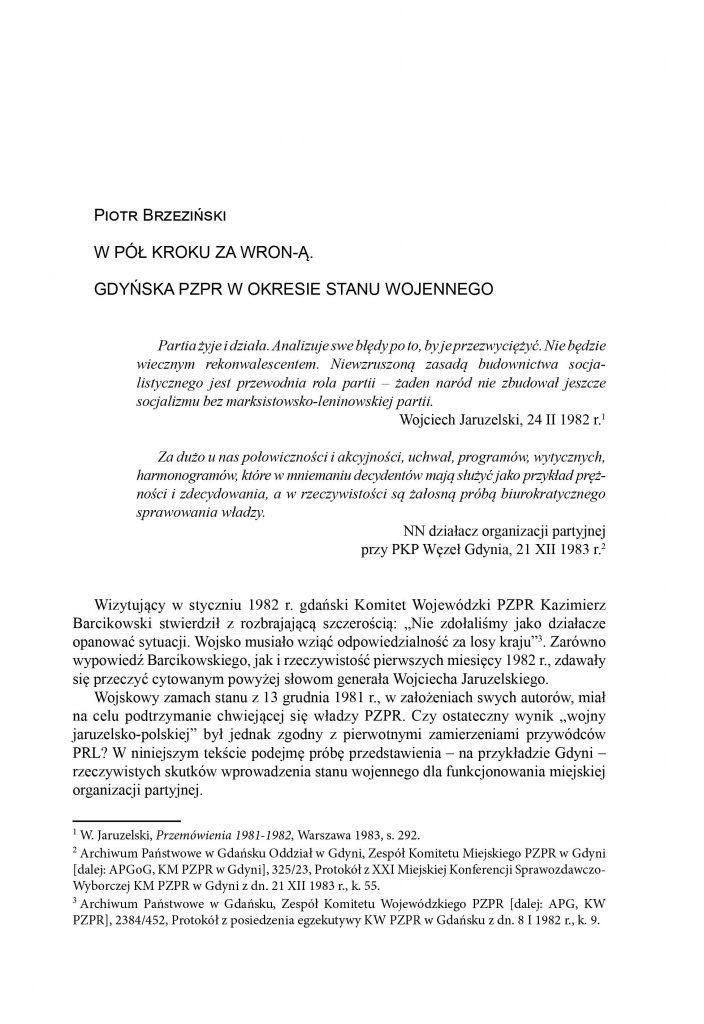 W pół kroku za WRON-Ą. Gdyńska PZPR w okresie Stanu Wojennego
