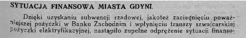Sytuacja finansowa miasta Gdyni