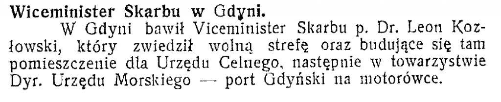 Wiceminister skarbu w Gdyni