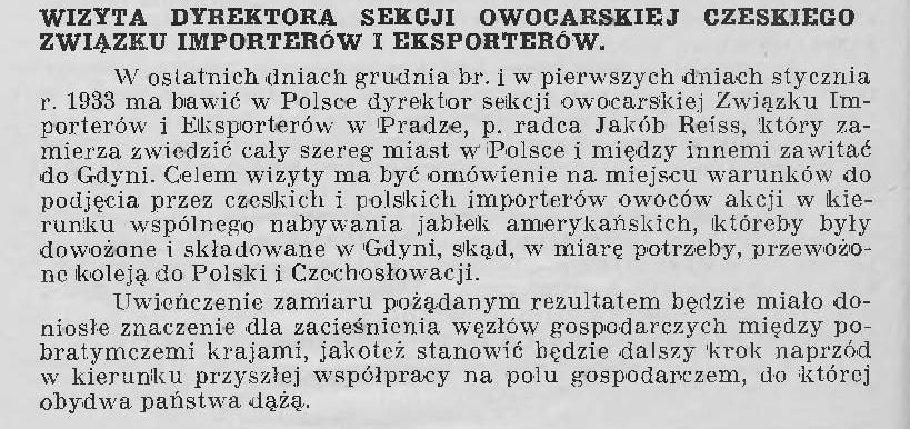 Wizyta dyrektora sekcji owocarskiej czeskiego związku eksporterów i importerów