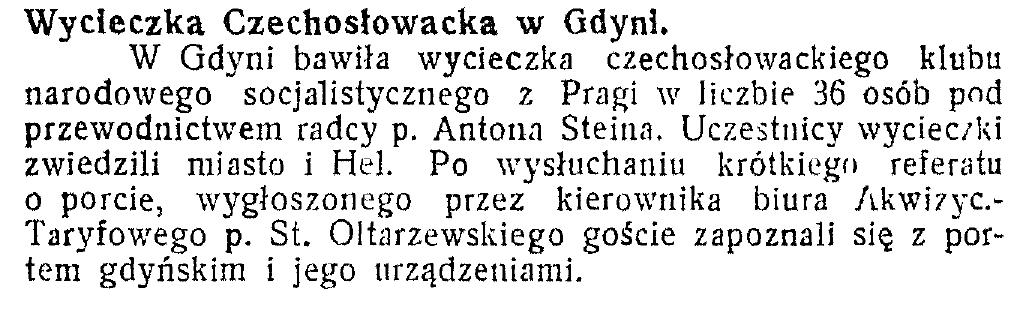 Wycieczka czechosłowacka w Gdyni