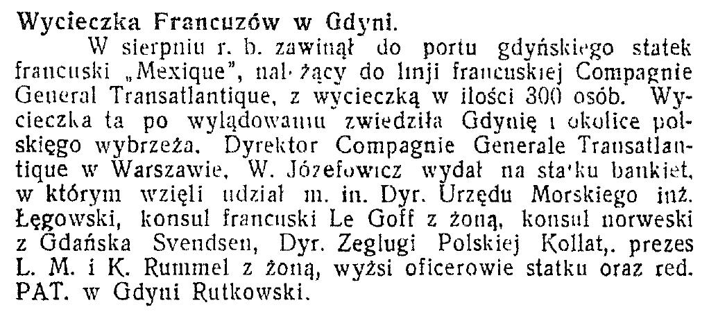 Wycieczka francuzów w Gdyni