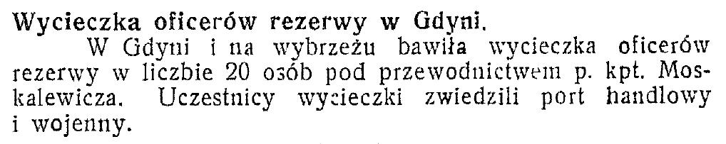 Wycieczka oficerów rezerwy w Gdyni