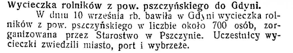 Wycieczka rolników z pow. pszczyńskiego w Gdyni