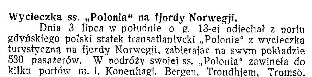 Wycieczka ss Polonia
